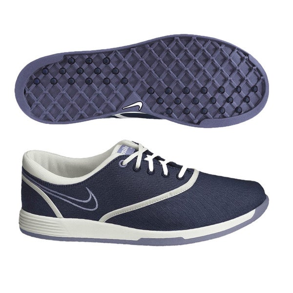 Nike Womens Lunar Duet Sport Blue/ White/ Thistle Golf Shoes