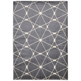 Nourison Nova Grey Geometric Area Rug (7'10 x 10'6)