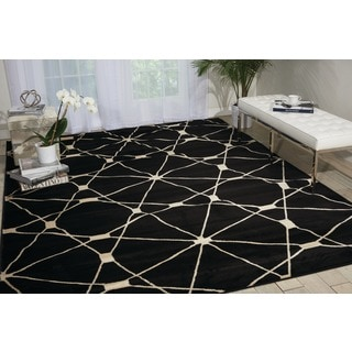 Nourison Nova Black Geometric Rug (7'10 x 10'6)