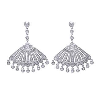 Beverly Hills Charm 14k White Gold 1ct Diamond Chandelier Earrings (H-I, I2-I3)