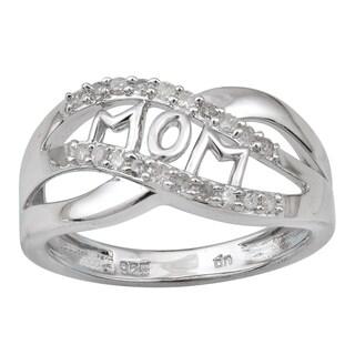 Sterling Silver 1/4ct TDW Diamond 'Mom' Ring (H-I, I2-I3)
