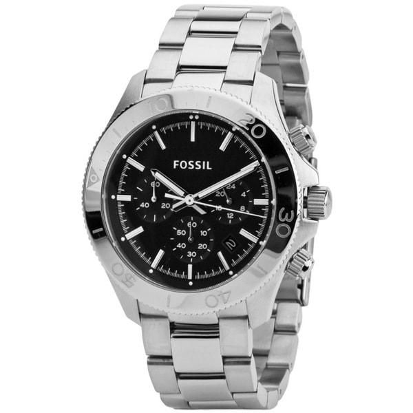 Fossil Men's CH2848 Retro Round Silver Bracelet Watch