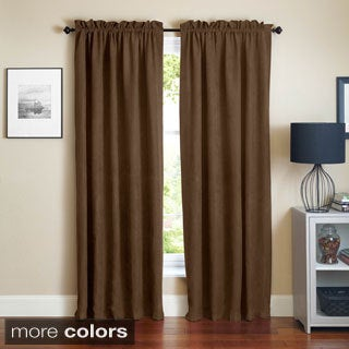 Blazing Needles Microsuede Blackout 84-inch Curtain Panel Pair