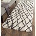Safavieh Belize Shag Ivory/ Charcoal Rug (2'3 x 7')
