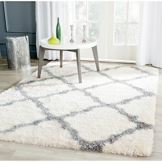 Safavieh Montreal Shag Ivory/ Grey / Polyester Rug (3' x 5')