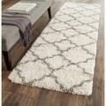 Safavieh Hudson Shag Ivory/ Grey Rug (2'3 x 8')