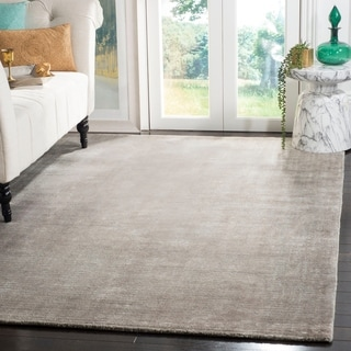Safavieh Hand-knotted Mirage Grey Wool/ Viscose Rug (8' x 10')