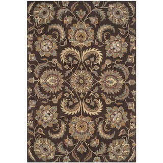 Safavieh Hand-Tufted Heritage Brown/ Gold Wool Rug (6' x 9')