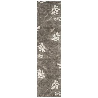 Safavieh Shag Smoke/ Beige Rug (2'3 x 11')