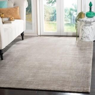 Safavieh Hand-knotted Mirage Grey Wool/ Viscose Rug (6' x 9')
