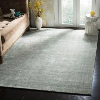 Safavieh Hand-knotted Mirage Light Blue Wool/ Viscose Rug (6' x 9')