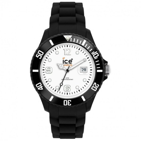 Ice Unisex SI.BW.B.S.10 Black Silicone Quartz Watch