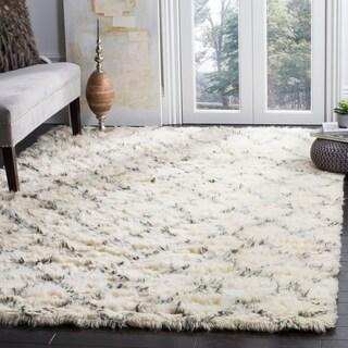 Safavieh Hand-Woven Kenya Ivory/ Grey Wool Rug (8' x 10')