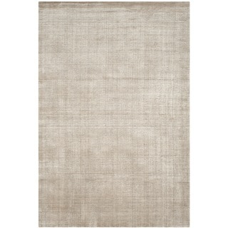 Safavieh Hand-knotted Mirage Silver Wool/ Viscose Rug (9' x 12')