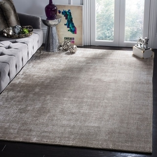 Safavieh Hand-knotted Mirage Silver/ Green Wool/ Viscose Rug (9' x 12')