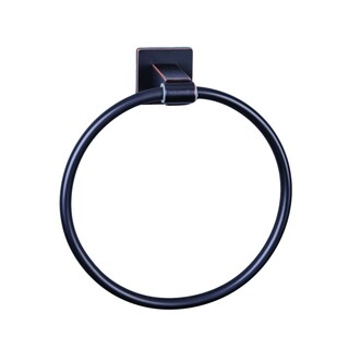 Vigo Allure Square Design Antique Rubbed Bronze Hand Towel Ring