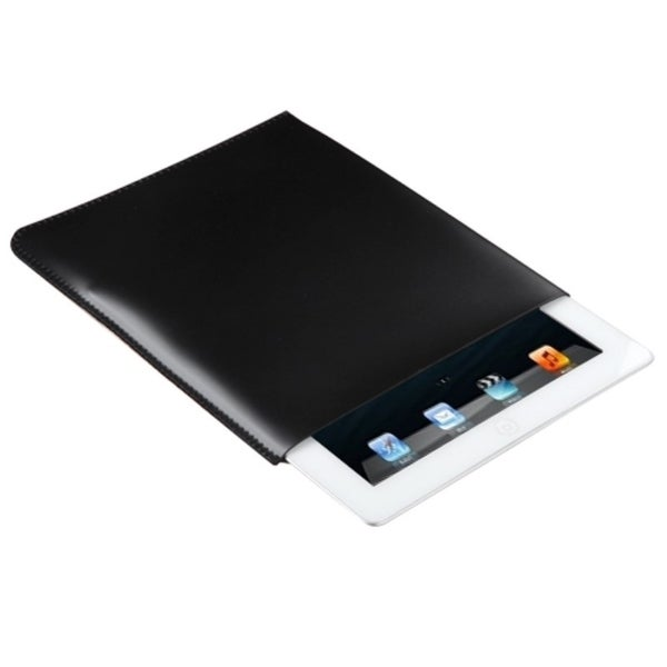 INSTEN Black Leather Sleeve for Apple iPad 2/ 3/ 4/ Air
