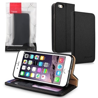 INSTEN Black Flip Leather Stand Wallet Case Cover With Photo Display For Apple iPhone 6 Plus/ 6+