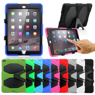 Gearonic Silicone PC Cover Hard Case with Kickstand for Apple iPad Air 2