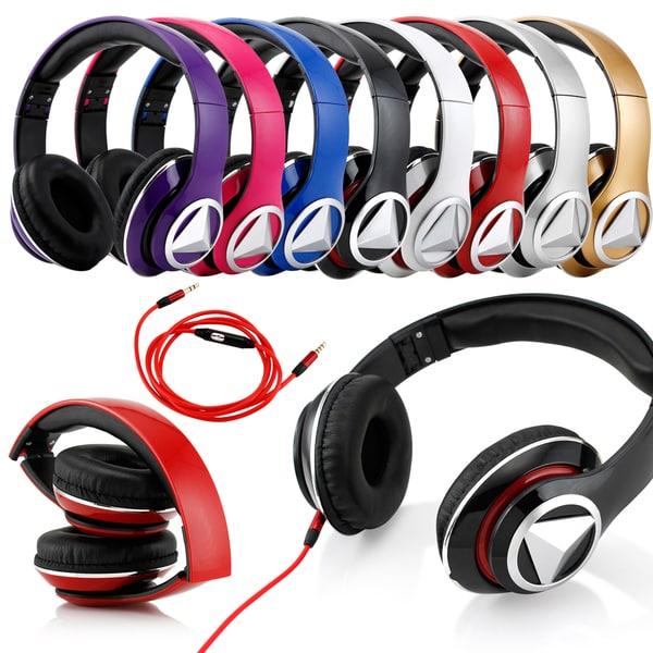 Gearonic Adjustable Circumaural Over-ear Headphones with Built-in Mic