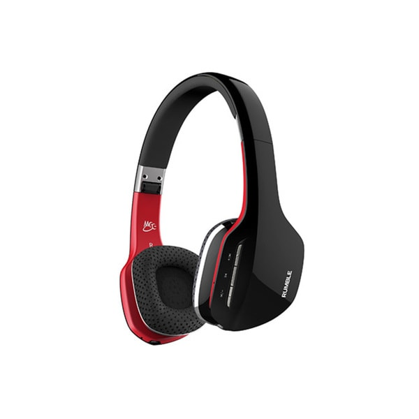 MEElectronics Air-Fi Rumble Enhanced Bass Bluetooth Wireless Stereo Headphones with Mic and Remote