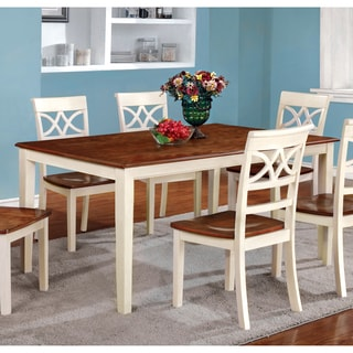 Furniture of America Betsy Joan Duo-Tone Dining Table