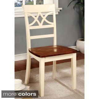 Furniture of America Betsy Joan Duo-Tone Side Chair (Set of 2)