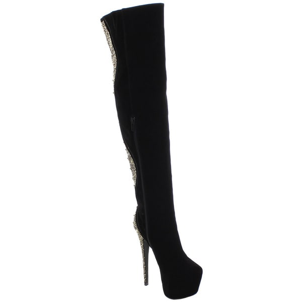 Women's Devon Over-the-Knee Stiletto Zip Boots