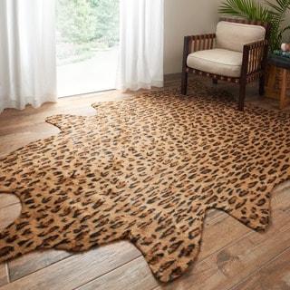 Rawhide Camel/ Black Rug (6'2 x 8'0)