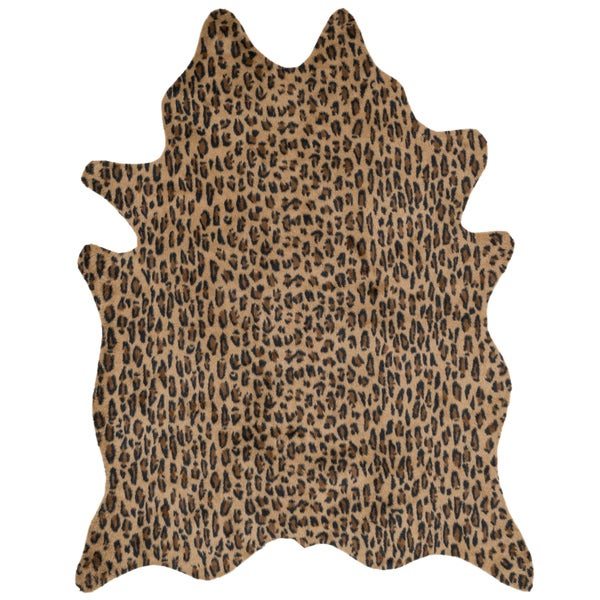 Rawhide Camel/ Black Rug (3'10 x 5')