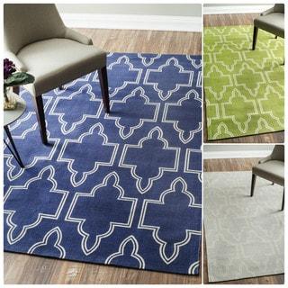 nuLOOM Flatweave Modern Geometric Printed Trellis Cotton Rug (5' x 7')