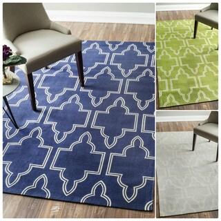 nuLOOM Flatweave Modern Geometric Printed Trellis Cotton Rug (8' x 10')