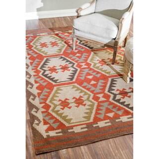 nuLOOM Flat Weave Indoor/ Outdoor Fancy Multi Rug (5' x 8')