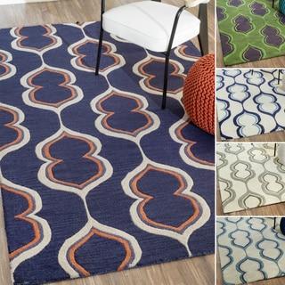 nuLOOM Handmade Modern Wool Rug (7'6 x 9'6)