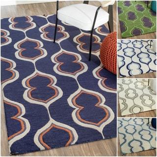nuLOOM Handmade Modern Wool Rug (8'6 x 11'6)
