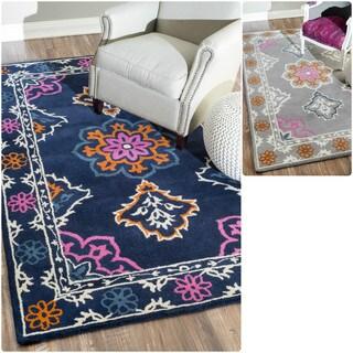 nuLOOM Handmade Modern Multi-color Wool Rug (7'6 x 9'6)