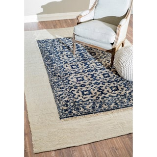 nuLOOM Hand-knotted Transitional Black Rug (6' x 9')