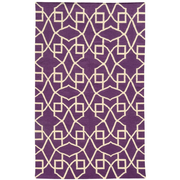 PANTONE UNIVERSE Matrix Ornate Flat Weave Lattice Rug (8' X 10')