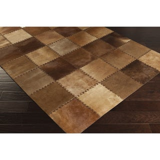 Papilio :Handmade Tasha Animal Leather Strap Rug (4' x 6')