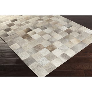 Papilio Handmade Kevin Animal White Leather Rug (8' x 10')