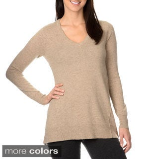 Ply Cashmere Women's Side Flare Insert Cashmere Sweater