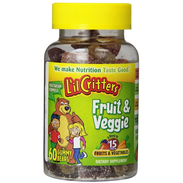 L'il Critters Fruit And Veggie Bears Vitamins (60 Count)