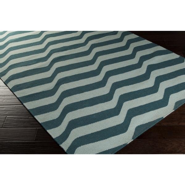 Hand-Woven Kirsten Stripe Wool Rug (5' x 8')