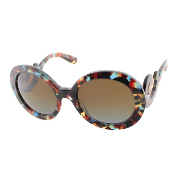 counterfeit prada - Prada Women's Spotted Blue Havana Minimal-Baroque Sunglasses ...
