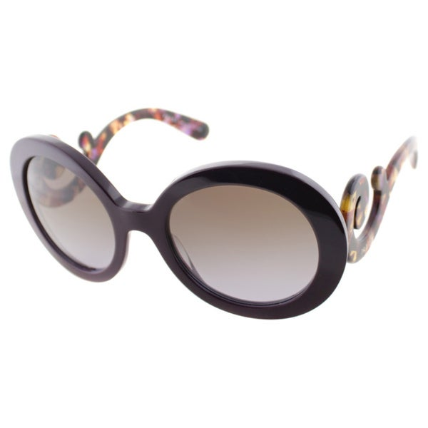 Prada Women's PR 27NS ROM6P1 Violet Round Minimal-Baroque Sunglasses