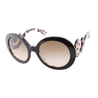 Prada Women's PR 27NS ROL0A6 Top Brown Pink Havana Round Minimal-Baroque Sunglasses
