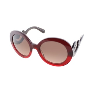 Prada Women's 'PR 27NS MAX0A5' Red Gradient Minimal-Baroque Sunglasses