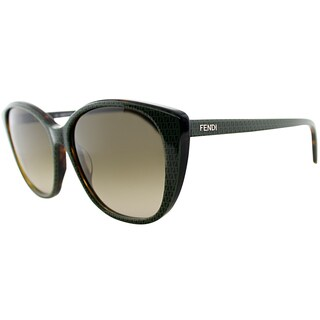 Fendi Women's FS 5288 215 Havana Cat Eye Sunglasses