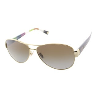 Coach Women's Kristina Gold/ Tortoise Aviator Sunglasses