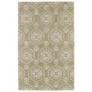 Hand-Tufted Ombre Light Brown Medallions Rug (2' x 3')